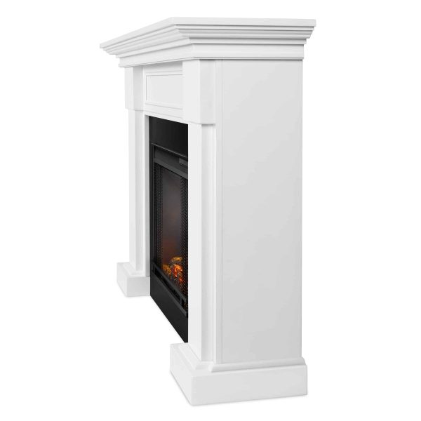 Hillcrest Electric Fireplace in White by Real Flame 2