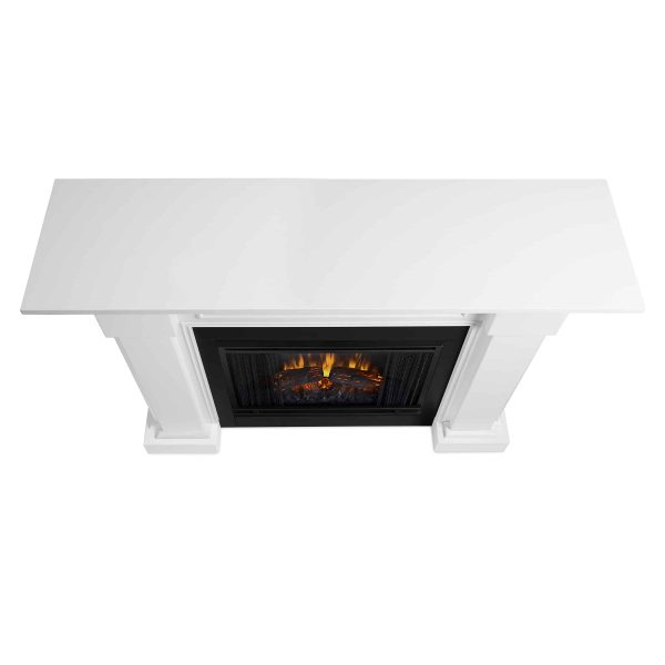 Hillcrest Electric Fireplace in White by Real Flame 3