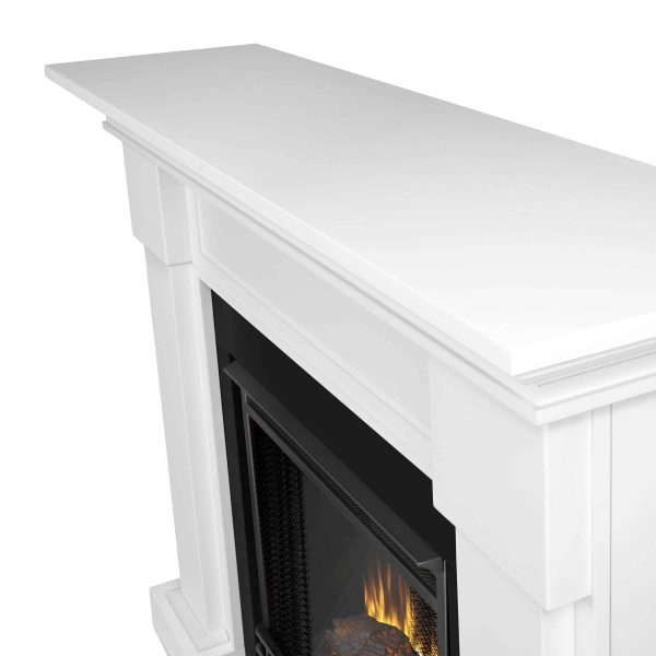 Hillcrest Electric Fireplace in White by Real Flame 4