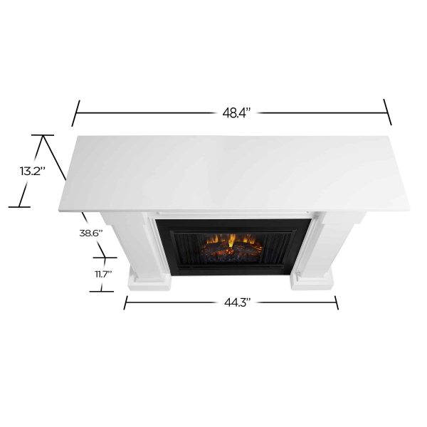 Hillcrest Electric Fireplace in White by Real Flame 5