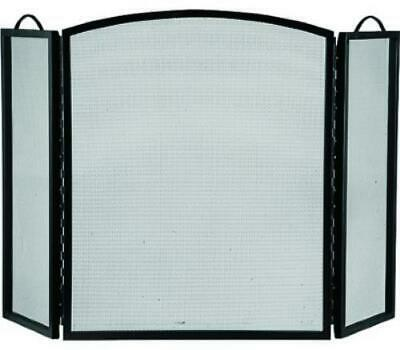 HomeBasix CPO90505BK3L 3 Panel Black Fireplace Screen