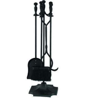 HomeBasix T51030BK-C3L 5 Piece 31 Inch Ball Tip Black Fireplace Tools