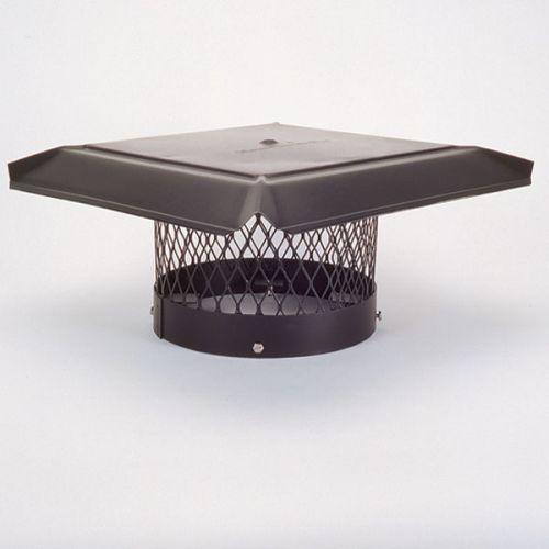 """HomeSaver Pro 12"""" Galvanized Round Chimney Cap 3/4"""" Mesh"""