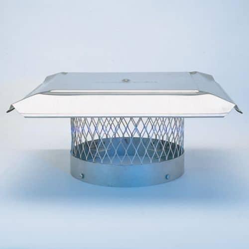"HomeSaver Pro 12"" Stainless Steel Round Chimney Cap 3/4"" Mesh"