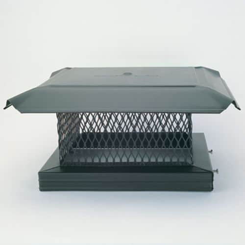 "HomeSaver Pro 13"" x 13"" Galvanized Single-Flue Chimney Cap 3/4"" Mesh"