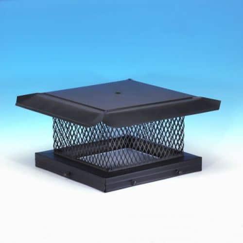 "HomeSaver Pro 8"" x 17"" Galvanized Single-Flue Chimney Cap 5/8"" Mesh"