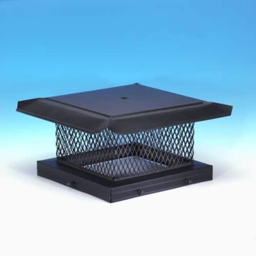 "HomeSaver Pro 8"" x 8"" Galvanized Single-Flue Chimney Cap 5/8"" Mesh"