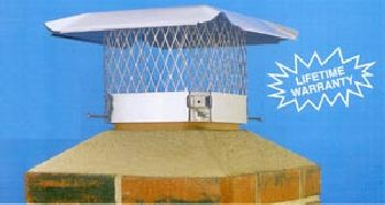 Hy-C Stainless Steel Combo Chimney Cover 9'' x 9''