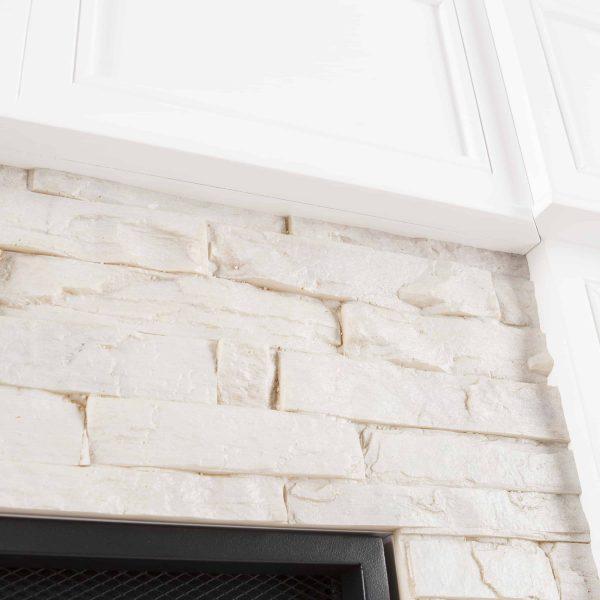 Ignatius Corner Convertible Electric Fireplace, White 5