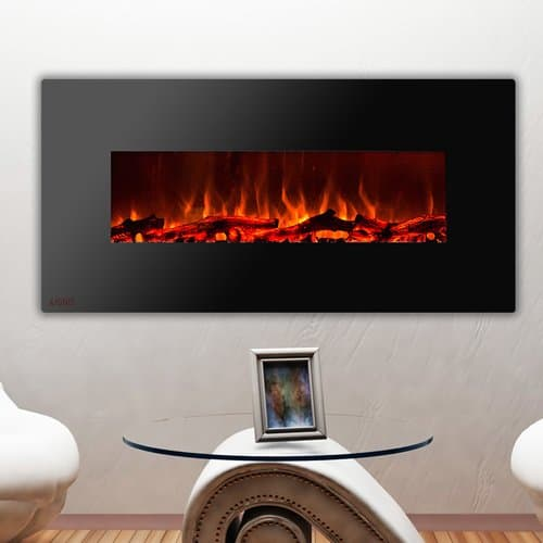 Ignis Products Royal Wall Mounted Electric Fireplace with Logs 3