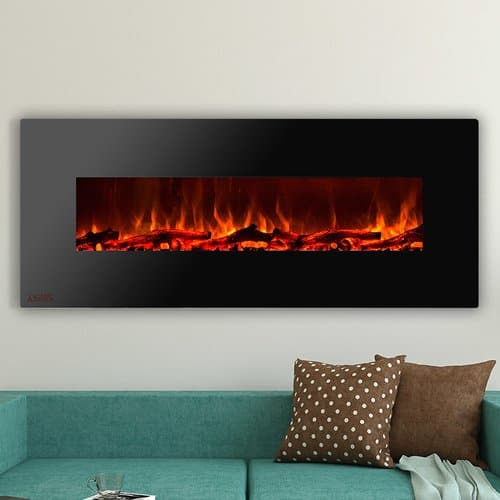 Ignis Products Royal Wall Mounted Electric Fireplace with Logs 4