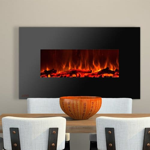 Ignis Products Royal Wall Mounted Electric Fireplace with Logs