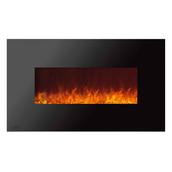 Ignis Royal 36 inch Electric Fireplace with Crystals 1