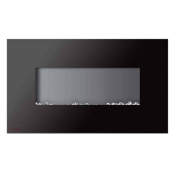 Ignis Royal 36 inch Electric Fireplace with Crystals 2