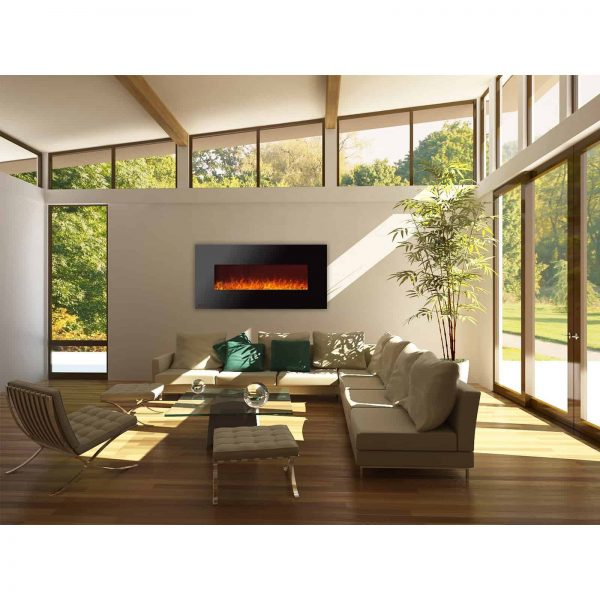 Ignis Royal 60 inch Electric Wall Fireplace with Crystals CSA US Certified 1