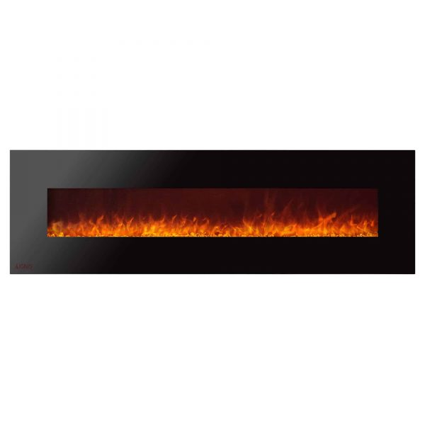 Ignis Royal 72 inch Wall Mounted Electric Fireplace with Crystals 1