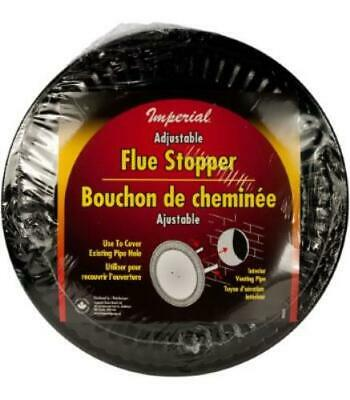 Imperial Manufacturing BM0026 Stopper Flue Adj 4-8In Black