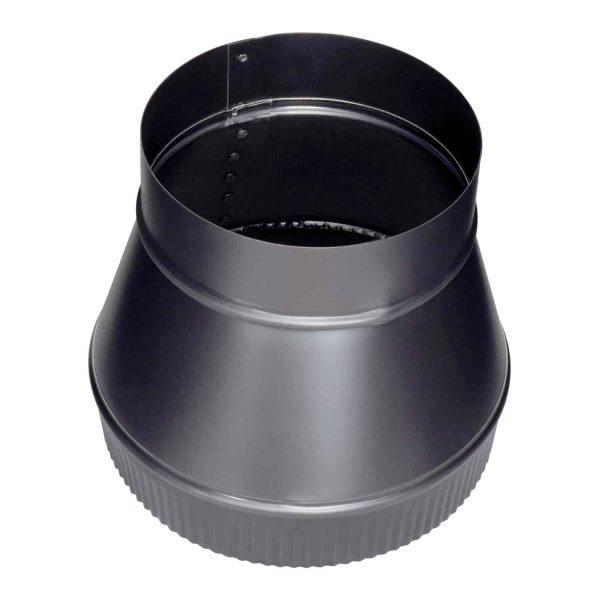 "Imperial Manufacturing Group BM0063 7"" X 8"" Black Matte Increaser 1"