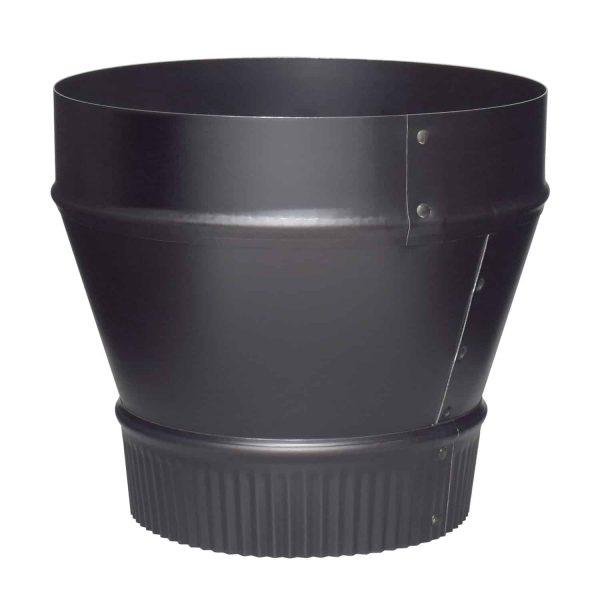 "Imperial Manufacturing Group BM0079 8"" X 6"" Black Matte Reducer"