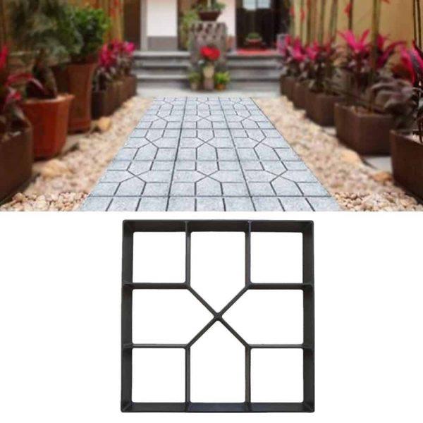 Iuhan Path Maker Mold Reusable Concrete Cement Stone Design Paver Walk Mould