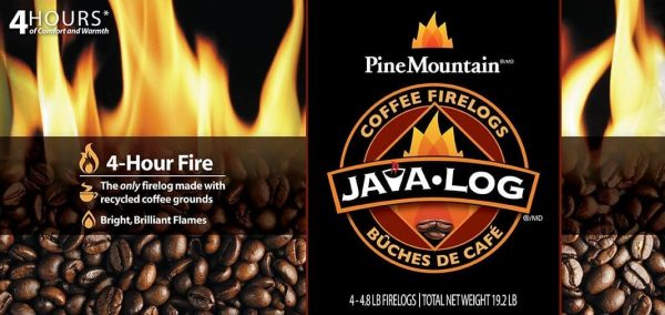 Java Log 4 - Hour Coffee Fire logs - 4.8 lb. 1