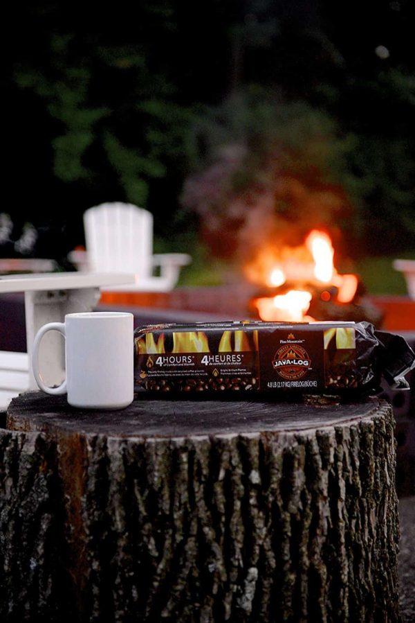 Java Log 4 - Hour Coffee Fire logs - 4.8 lb. 3