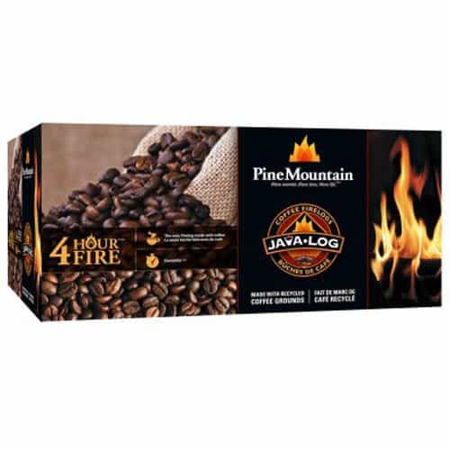 Java Log 4 - Hour Coffee Fire logs - 4.8 lb.