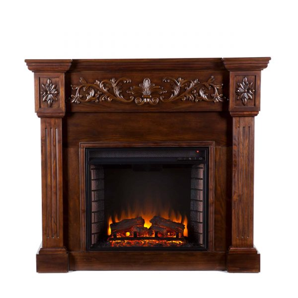 Jaxfyre Electric Fireplace, Espresso 4