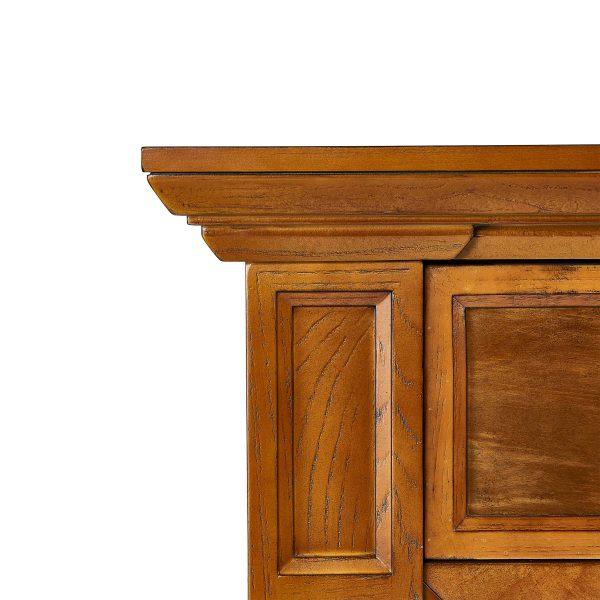 Jerfyre Faux Stone Media Fireplace, Traditional, Glazed Pine 2