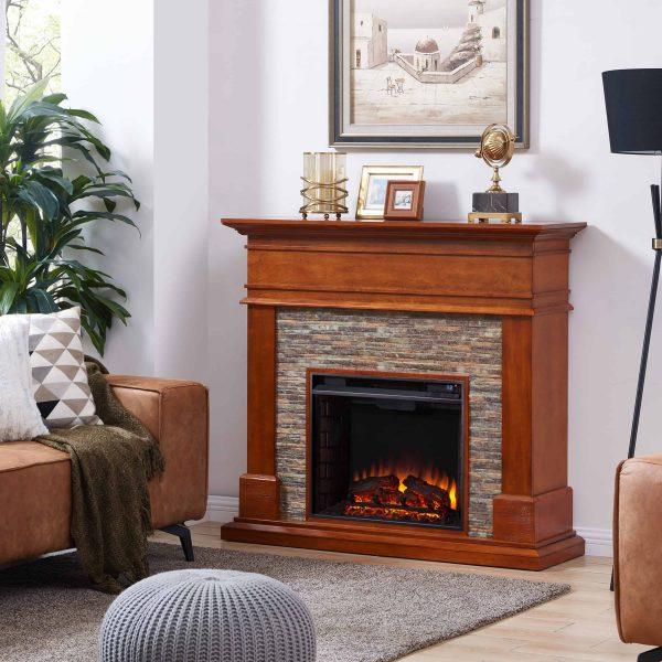 Jerfyre Faux Stone Media Fireplace