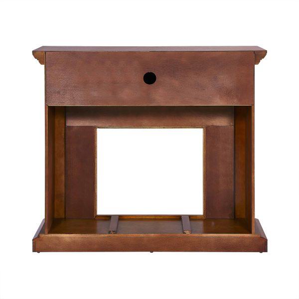 Jerfyre Faux Stone Media Fireplace, Traditional, Glazed Pine 5