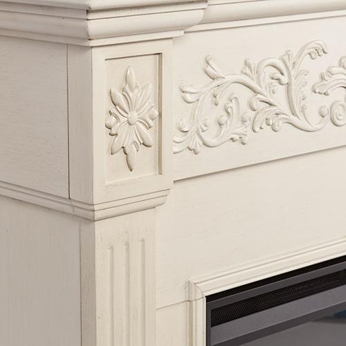 Jordan II Electric Fireplace, Ivory 1