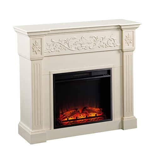 Jordan II Electric Fireplace, Ivory 3