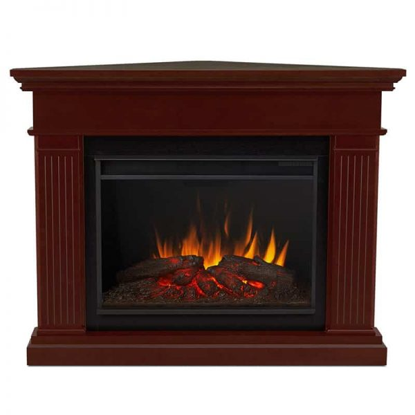 Kennedy Grand Corner Fireplace in Dark Walnut by Real Flame 2