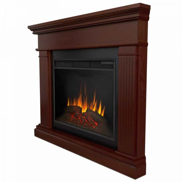 Kennedy Grand Corner Fireplace in Dark Walnut by Real Flame 3