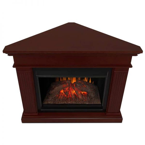 Kennedy Grand Corner Fireplace in Dark Walnut by Real Flame 4