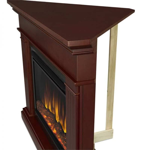 Kennedy Grand Corner Fireplace in Dark Walnut by Real Flame 5