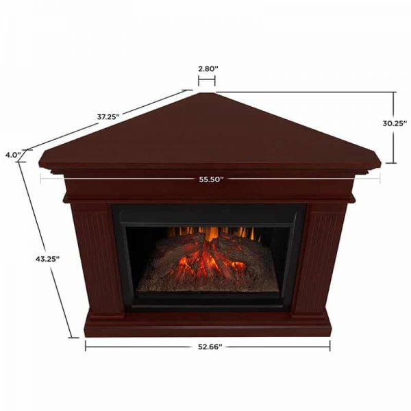 Kennedy Grand Corner Fireplace in Dark Walnut by Real Flame 6