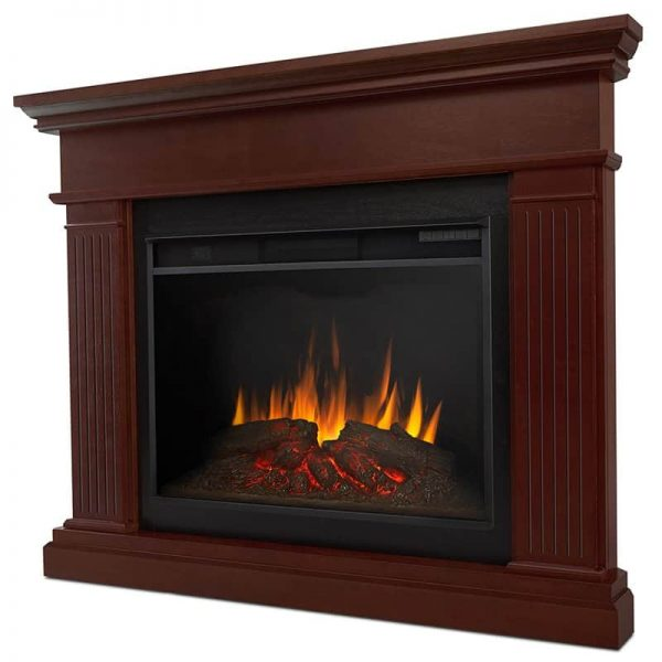 Kennedy Grand Corner Fireplace in Dark Walnut by Real Flame