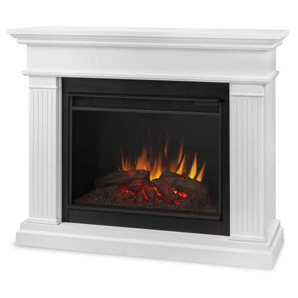Kennedy Grand Electric Fireplace in White by Real Flame 1