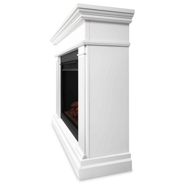 Kennedy Grand Electric Fireplace in White by Real Flame 2