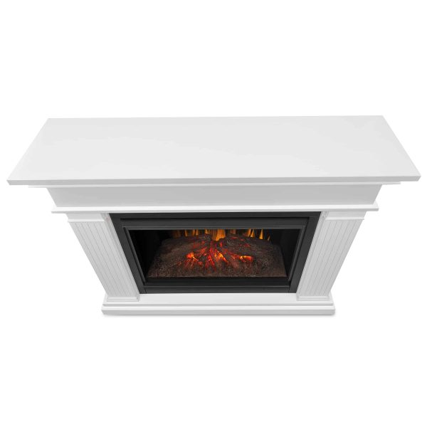 Kennedy Grand Electric Fireplace in White by Real Flame 3