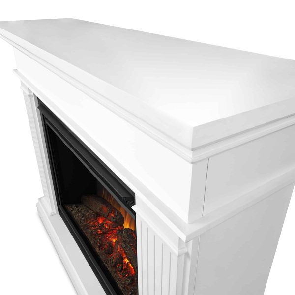 Kennedy Grand Electric Fireplace in White by Real Flame 4