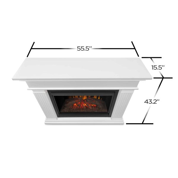 Kennedy Grand Electric Fireplace in White by Real Flame 5