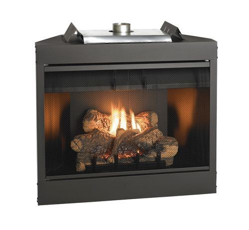 """Keystone Series 34"""" Deluxe B-Vent IP Louver Fireplace - NG 1"""