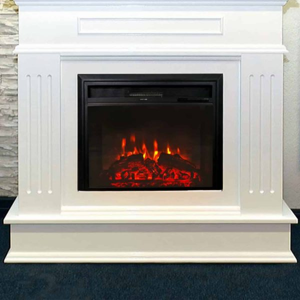 "Kinbor 28"" Electric Wall Mounted Fireplace Heater w/ Adjustable Heating 1"