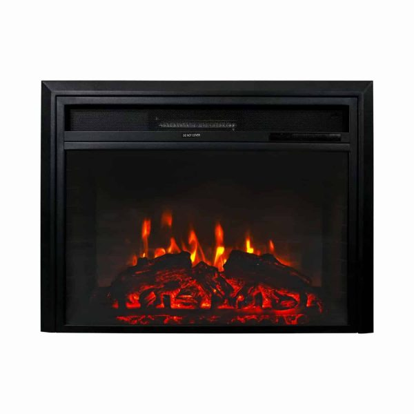 "Kinbor 28"" Electric Wall Mounted Fireplace Heater w/ Adjustable Heating 2"