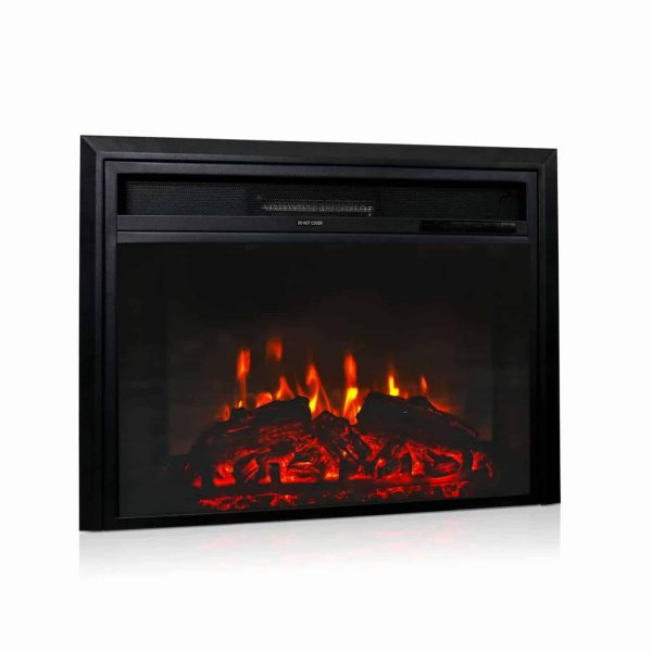 "Kinbor 28"" Electric Wall Mounted Fireplace Heater w/ Adjustable Heating"