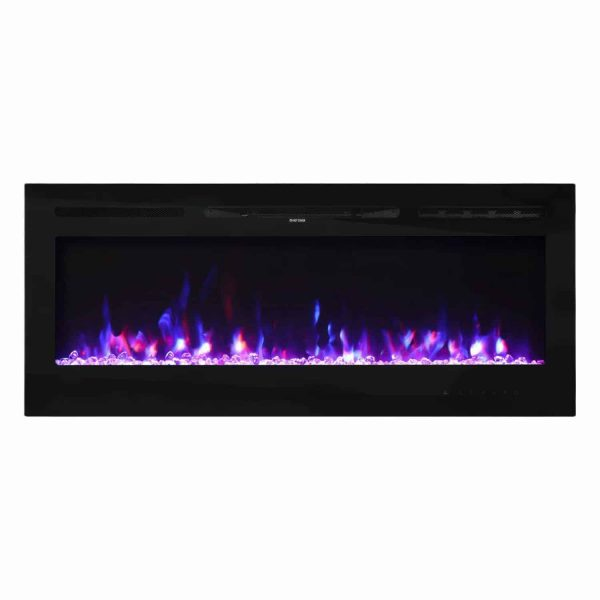 "Kinbor 50"" Electric Wall Mounted 3-Color Lighting Flame 1500/750W Remote Control with Timer 5"