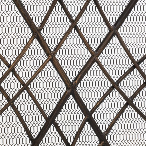 Kingsford Fireplace Screen, Gold on Black 3